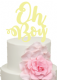 Oh Boy words Acrylic Cake Topper
